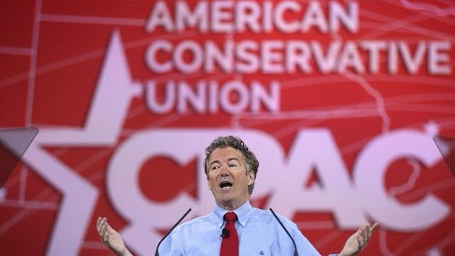 Rand Paul wins CPAC straw poll (Photo by Alex Wong/Getty Images)